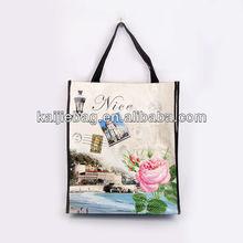 PVC oem custom plastic tote folding shopping bag