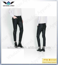 Hot young girls sexy black faux leather leggings