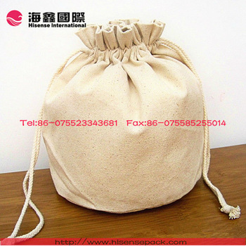 cheap canvas fabric mini drawstring bag