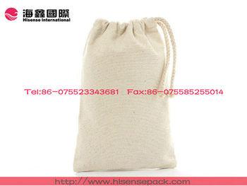 high quality canvas fabric mini drawstring bag