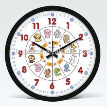 """14"""" Black Seiko quartz clock for party decor"""