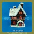 la decoración del hogar de navidad de cerámica de la casa