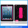 Combo Silicone Case For iPad 4,Hybird Case For iPad 4 Stand on Case