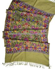 indio de chales de lana con bordados