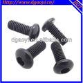 Metric / Inch tamanho zinco preto chapeamento hex pan machine head screw