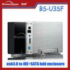 "Aluminium hdd enclosure sata/ide 3.5"" usb3.0 hdd box"