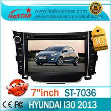 Factory Price Hyundai I30 Car Multimedia GPS Navigation with 3G wireless 6CDC Radio bluetooth ipod SWC dual zone hotselling