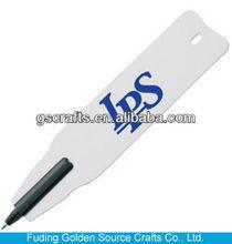 flat promotional logo plastic ballpoint pen