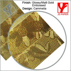 High quality embossed glossy texture paper