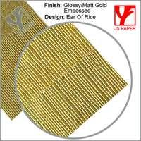 Matt gold or silver paper