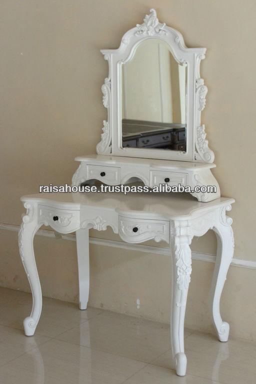 Indon sie meubles fran ais rococo coiffeuse autres for Meuble coiffeuse antique