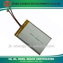 1200mah litium polymer battery 384570 3.7v li-polymer battery