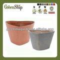 De decoración de jardín de plástico macetas de flores al por mayor/20 años de por vida/ligero/protección uv/eco-