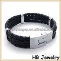 2013 nuevos de acero inoxidable joyería de pulsera de cuero para los hombres pulsera vners
