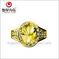 w1r000427a boa qualidade com melhor preço de atacado citrino natural color quartz pedras preciosas anel de prata