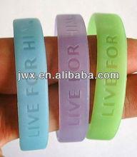 Silicon rubber bracelet , silicon rubber band bangle glow in dark