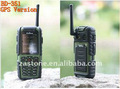 Polizei mit gsm wasserdicht walkie talkie telefon/uhf400-470 handy mhz bd-351with sim-karten-slot gps version
