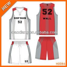 Oem custom basketball uniform for league