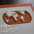 Cutout business card for offset printing japanese quality
