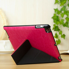 Stylish transformation ultrathin standing leather case for ipad 2 3 4