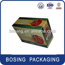 B, E flute corrugated box packaging