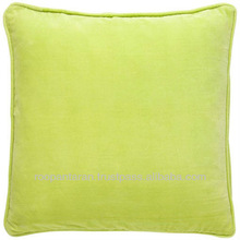 Cotton Velvet Cushion Dyed Pillows Apple Green