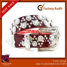 formal bridal colorful rhinestone belt for lady