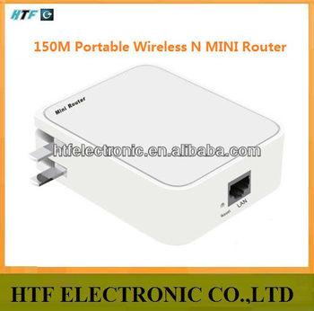 OEM Portable desktop 150M protocol 1 LAN/WAN port 2.4G wifi Wireless Network Router module with batlery it