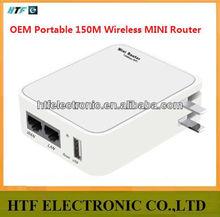 Full inspection OEM Portable desktop 150M protocol 1 LAN/WAN port 2.4G wifi Wireless Network Router module with batlery it