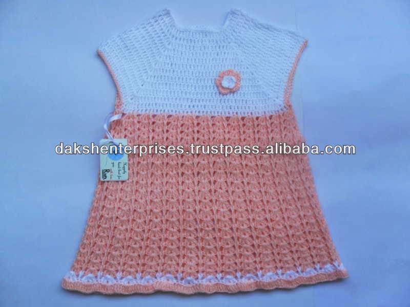 Set De Baño Tejido A Mano:bebé niña vestido tejido a mano-Vestido de niña-Identificación del