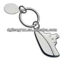Fashion blank metal keyring for promotion
