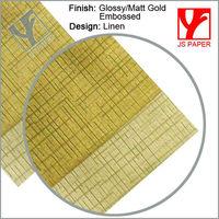 Linen Embossed Finish Metallic Paper