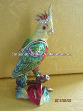 de metal caja de la baratija del metal pájaro la figura del pájaro