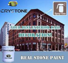 Crystone Acrylic Stone Spray Coating For Exterior Wall Decoration