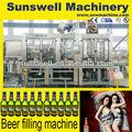 Manual de la cápsula de cristal máquina de llenado de botellas carbonatadas de llenado de la máquina de rellenar de la cerveza
