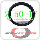 butyl motorcycle inner tube 2.50-17
