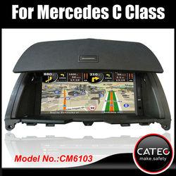 OEM 7 inch car audio video entertainment navigation system for mercedes benz C200