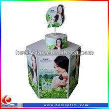 carton retail rack for soup/skin care corrugated retail display unit