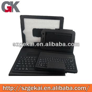 Wholesale flip Leather case for ipad 2/3/4 keyborad