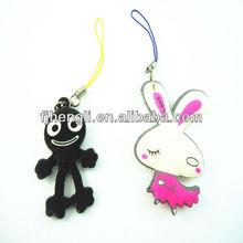 High quality cartoon plastic keychains