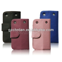 Hot selling Stylish cover leather flip case for blackberry 9220 9320