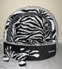 Small dog cat pet puppy bed house sleeping place Chihuahua ZEBRA PRINT/BLACK
