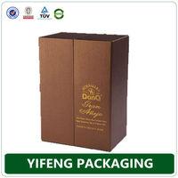 Custom Leather Gift Boxes For Wine Glasses Wine Bottle