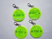 reflector keychain round shape
