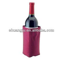 Gel beer bottle cooler, gel ice pack wine cooler, ice pack for beverage
