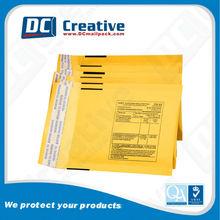 Bubble lined kraft paper mailing envelopes