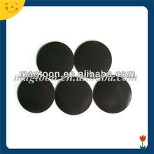 Dongguan flat refrigerator round rubber magnet