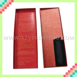 Gold stamping recycled luxury red knife box packing