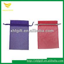 Small organza bags with logo ribbon