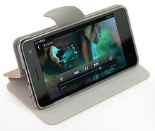 Left--right Flip Leather Case Stand for Mobile phone